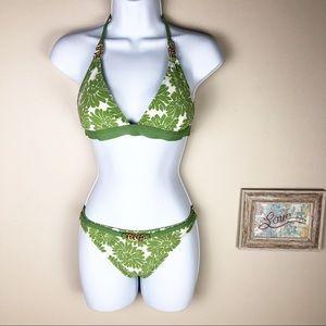 LA Blanca Playa Floral Swimsuit Bikini Size S